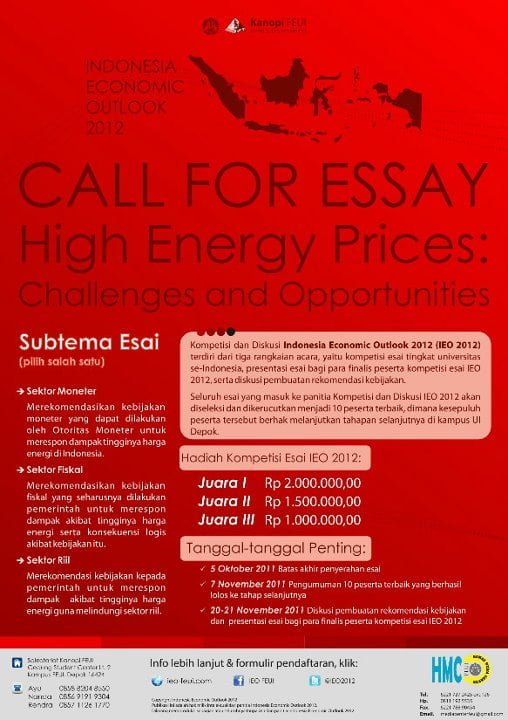 Poster Call for Essay High Energy Prices