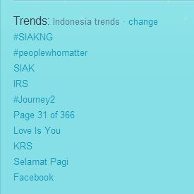#SIAKNG Trending Topic Indonesia