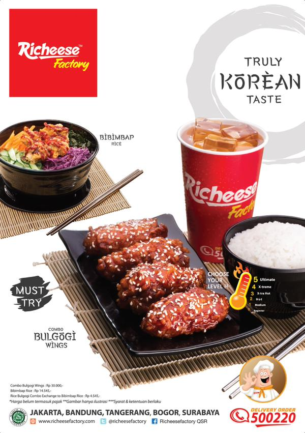 Sensasi Korea dari Richeese Factory